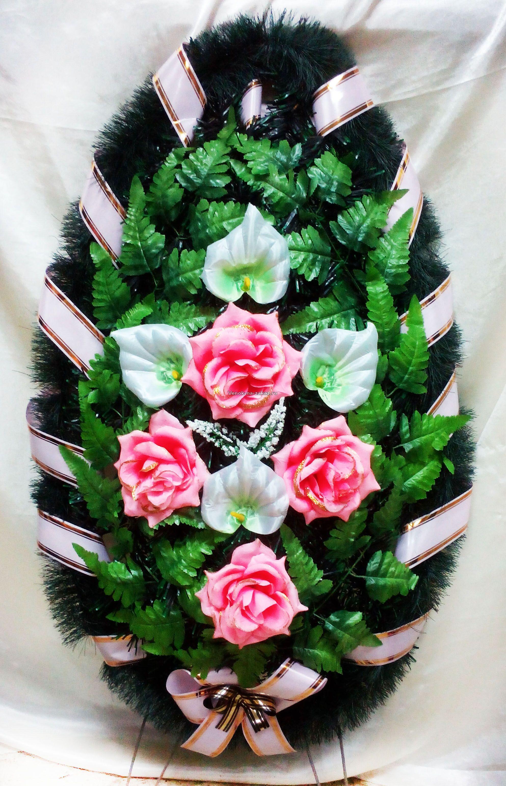Фото венков из искусственных цветов больших