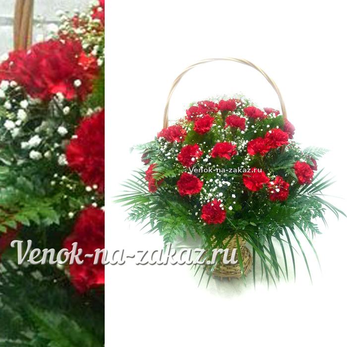 Корзины на возложение из живых цветов