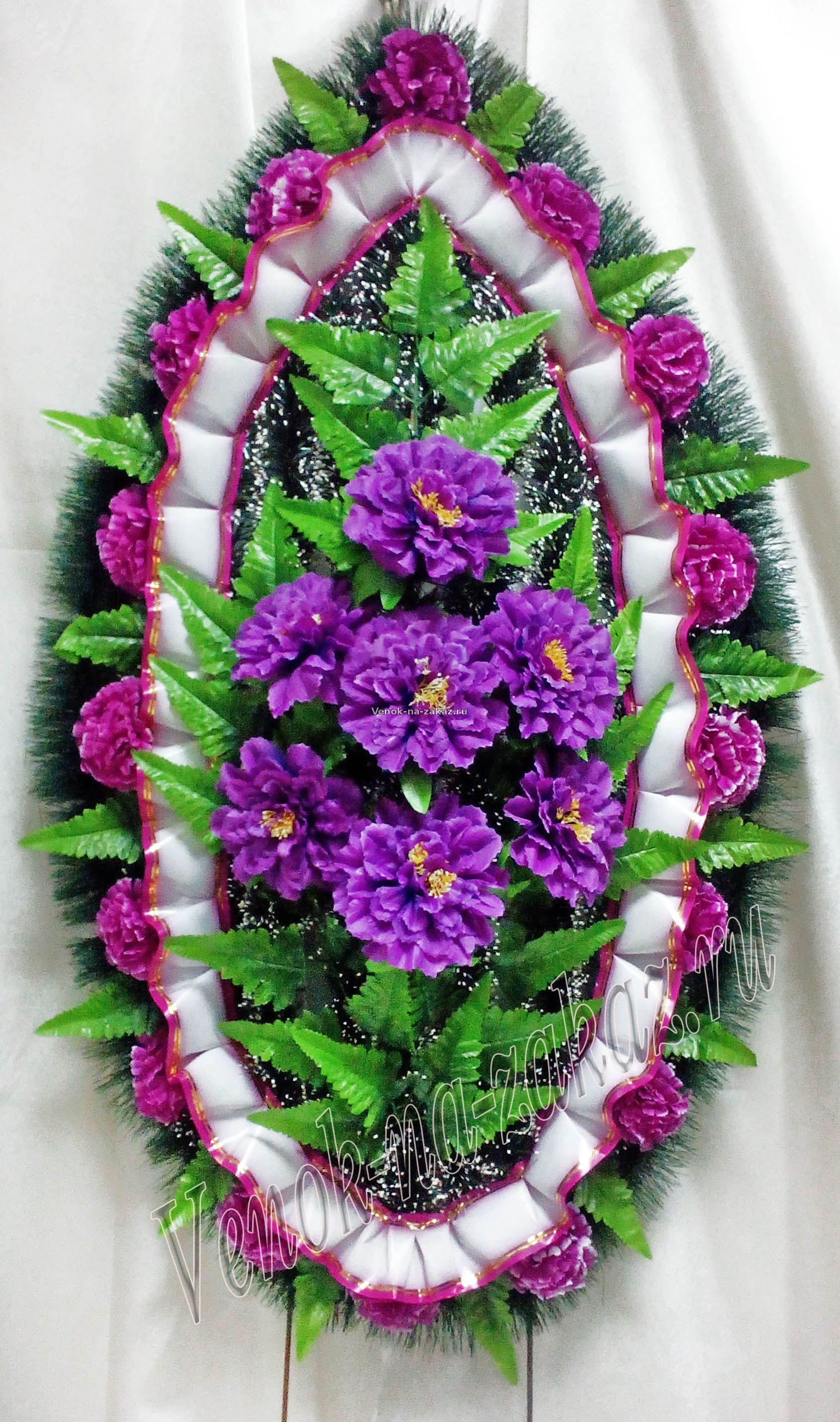 Ритуальные венки из искусственных цветов своими руками фото